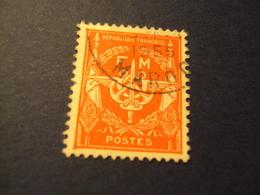 """FRANCHISE -  1946-1958- Timbre Oblitéré N° 12    """"  Rouge     """"      Net     1     Photo 1 - Militärpostmarken"""
