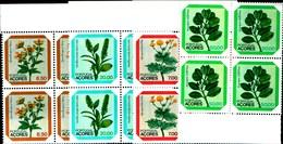 92223) AZZORRE-1981 Serie Fiori Locali  In Quartina-MNH** - Autres