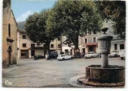 SAINT-ANDRE-DE-VALBORGNE- L'EGLISE ET LA FONTAINE  Edit Cim. Oldtimer. Panhard. St - Frankreich