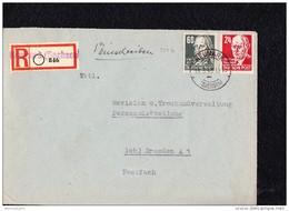 SBZ: Fern-E-Brief  60 Pf Köpfe I In Dunkelgrün (gelbgrün Floureszierend) Aus NEUMARK (Sachsen)(846) 11.3.49 Knr: 225b Ua - Zone Soviétique