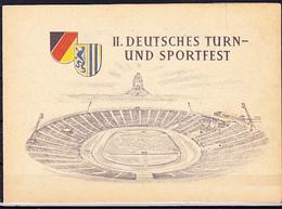 DDR GDR RDA - II. Dt. Turn- U. Sportfest (Mi.Nr. 530/33) 1956 - Sonderklappkarte Lpz Sonderstempel Vom Eröffnungstag - DDR