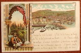 SOUVENIR DE SMYRNE Mit 3x8 PARA (Michel-No.20) DIAGONAL HALBIERT Mit O SMYRNA 25.11.99 OESTERREICHISCHE POST - Levant Autrichien