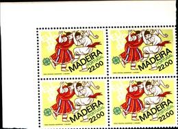 92228) MADEIRA-1980 SERIE EUROPA In Quartina-MNH** - 1910-... République