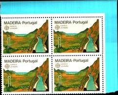 92229) MADEIRA-1983 SERIE EUROPA In Quartina-MNH** - 1910-... Republic