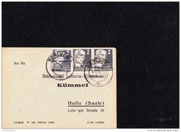SBZ: DS-Brief  2 Pf Köpfe I Auf Kleinen Lotterie-Bf OSt. BERLIN N4 Vom 9.12.51 Knr: 212 (3) - Zone Soviétique