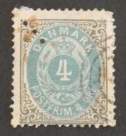 DANEMARK YT 23  OBLITÉRÉ ANNÉES 1875/1903 - Usati