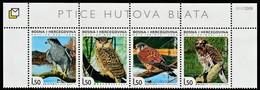 2008 Bosnia Herzegovina (Croatian Post) Birds Of The Hutova Blata National Park Set (** / MNH / UMM) - Eagles & Birds Of Prey