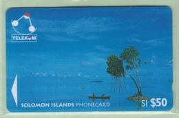 Solomon Island - 1996 Canoes - $50 Sikaiana - SOL-16 - VFU - Isole Salomon