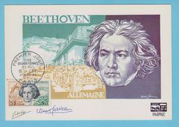J.M. 31 - Carte Maximum Ou Carte Philatélique - N° 15 - Compositeur - BEETHOVEN - - Musique