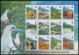 2009 British Indian Ocean Territory Definitives: Flowers, Marine Life, Birds, Beaches Minisheet (** / MNH / UMM) - Marine Life