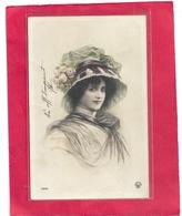 TRES JOLI PORTRAIT DE JEUNE FILLE . CARTE AFFR AU VERSO . 2 SCANES - Femmes