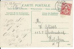 SBK 83, Mi 85, Kloten 31.3.07 Nach Hoboken USA - Lettres & Documents