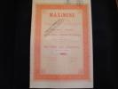 """Action """"Maximine""""Verviers 1929  (charbon)  Très Bon état,avec Tous Les Coupons. - Miniere"""