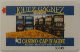 CASINO CAP D'AGDE - Roulette - Black Jack ... / Montagne De Pièces De Monnaie - Machines à Sous - Carte Magnetique - Casino Cards