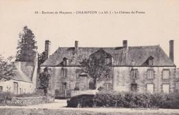 53.  CHAMPEON. CPA. LE CHÂTEAU DU FRESNE - France