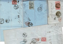 Lot 21 Lettres D'Italie Adressées à Lyon - Storia Postale