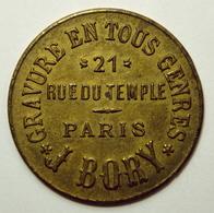 J. Bory - Gravures En Tous Genres - 30 Centimes - ELIE B350.1 (Paris) - Monetari / Di Necessità