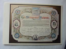 Illuminated Address To Sergeant Bowen Of Tylorstown - Autres