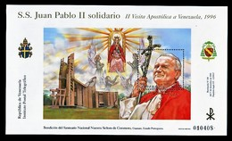 POPE JOHN PAUL II - VENEZUELA BLOCK  MNH ** PAPE JEAN PAUL II PAPA GIOVANNI PAOLO II PAPST - Papas