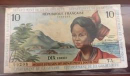 10 Francs Antilles Françaises (Guyane,Martinique Et Guadeloupe) VG (B) 1964 - Guyana Francese