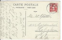 SBK 104, Mi 98, Murg 20.6.08 Nach Hoboken USA - Lettres & Documents