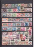 UN LOT DE 110 TIMBRES OBLITERES DEPUIS 1887 ET APRES INDEPENDANCE - Senegal (1887-1944)