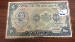 100 Francs GRAND-DUCHÉ De Luxembourg 1944 G ! - Luxembourg