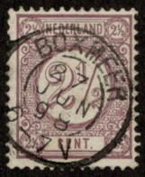 "NTH SC #37 U 1894 Numeral Of Value W/SON ""BOXMEER/27 JUN 98/6-7V"" CV $0.30 - Periodo 1891 – 1948 (Wilhelmina)"