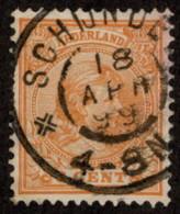 "NTH SC #40 U 1894 Princess Wilhelmina W/SON ""SCHIJNDE/18 APR 99/4-8N"" CV $2.30 - Period 1891-1948 (Wilhelmina)"