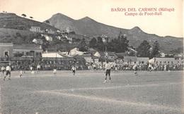 CPA - Espana / Spain  -  BAÑOS DEL CARMEN, ( Malaga )  -  Campo De Foot-Ball - Málaga