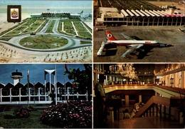 ! 1979 Ansichtskarte Abu Dhabi Internatinal Airport, U.A.E., Trucial States, Boeing, Middle East Airlines - Ver. Arab. Emirate
