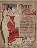 Ca.1900 PATEY & WILLIS Music Score - ART NOUVEAU LITHOGRAPH Cover  Hanhart Lith - Nº 7 DANCE ALBUM - Litografía