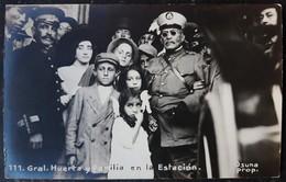 1910s Mexico Civil War General Victoriano Huerta Family Photopostcard RPPC - México