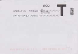Toshiba 09831A-64 Du 07-10-19 7 Signes Inférieurs Et Supérieurs Lettre T Eco - Marcofilie (Brieven)