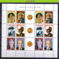 Nfm1386VBPb GOLDEN MEDAILLES NOBELPRIJS NOBELPRIZE WINNERS PEACE ECONOMY LITERATURE FAMOUS PEOPLE SURINAME 2006 PF/MNH - Nobelprijs