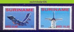 Nfm1392 TRANSPORT VLIEGTUIG MOLEN UPAEP U.P.A.E.P. MILL SOLAR PLANE MUHLE FLUGZEUG SURINAME 2006 PF/MNH - Vliegtuigen