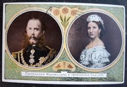 1919 Mexico Empire Emperor Maximilian Empress Charlotte Color Postcard - Familles Royales