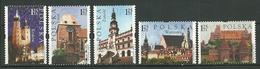 POLAND MNH ** 3905-3909 Patrimoine Mondiale De L'Unesco église Cathédrale Cracovie Torun Zamosc Malbork Varsovie Vistule - 1944-.... Republik