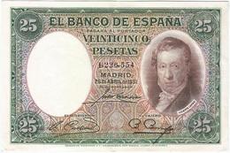 España - Spain 25 Pesetas 25-4-1931 Pk 81 Sin Serie Ref 676-4 - [ 1] …-1931 : Primeros Billetes (Banco De España)