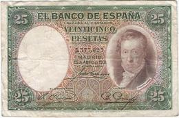 España - Spain 25 Pesetas 25-4-1931 Pk 81 Sin Serie Ref 676-3 - [ 1] …-1931 : Primeros Billetes (Banco De España)