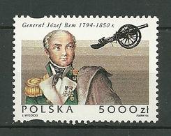 POLAND MNH ** 3275 Naissance Du Général Jozef Bem, Canon, Armée, Guerre - 1944-.... Republik