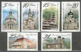 POLAND MNH  ** 2766-2771 Architecture Religieuse église Synagogue Mosquée - Ungebraucht