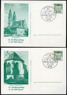 SPEYER ST.JOSEFSKIRCHE + KAPELLE ADENAUERPARK Bund PP38 D2/003 Sost. 1968  NGK 12,00 € - Architektur