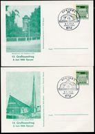 Bund PP38 D2/004 SPEYER WASSERTURM + CHRISTUS-KIRCHE Sost.1969  NGK 12,00 € - Cartes Postales Privées - Oblitérées