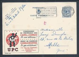 Postal Stationery Of The Congo Coffee. Congokoffies. Ganzsachen Des Kongo-Kaffees. Postpapier Congo-koffie. Drink.Kaffee - Boissons