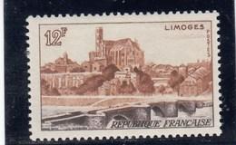 France - 1955 - N° YT 1019** - Vue De Limoges - Unused Stamps