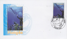 Enveloppe  FDC  1er  Jour  POLYNESIE   Plongée   2009 - FDC