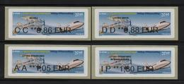 4 Atms, Nabanco, CC/ DD/ AA/ IP, E-max, EXPOSITION PHILATELIQUE, VELIZY-VILLACOUBLAY.Avion Bréguet XIV Et Falcon 2000. - 2010-... Illustrated Franking Labels