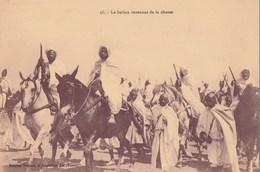 Carte Postale. Maroc. Le Sultan Revenant De La Chasse. Animation. Manuscrite. - Uomini Politici E Militari