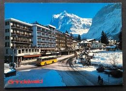 Grindelwald Dorfansicht Postauto - BE Berne
